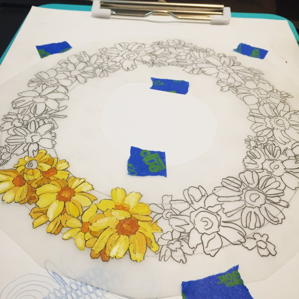 Progress shot of my latest large project, Medley of the Eclipse.
