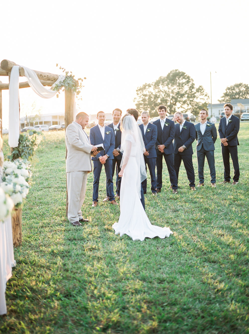 farmhouse wedding ceremony
