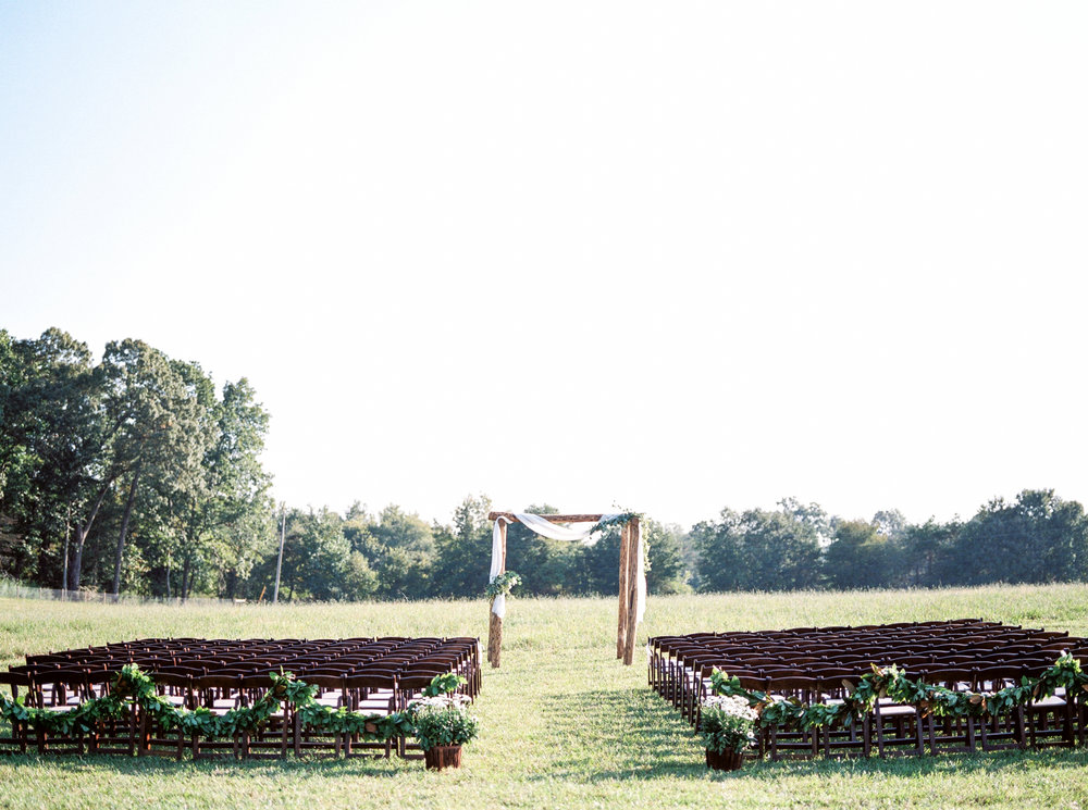 farmhouse wedding ceremony space