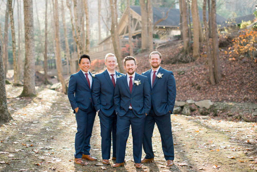Groomsmen mountain wedding Andrews, nc