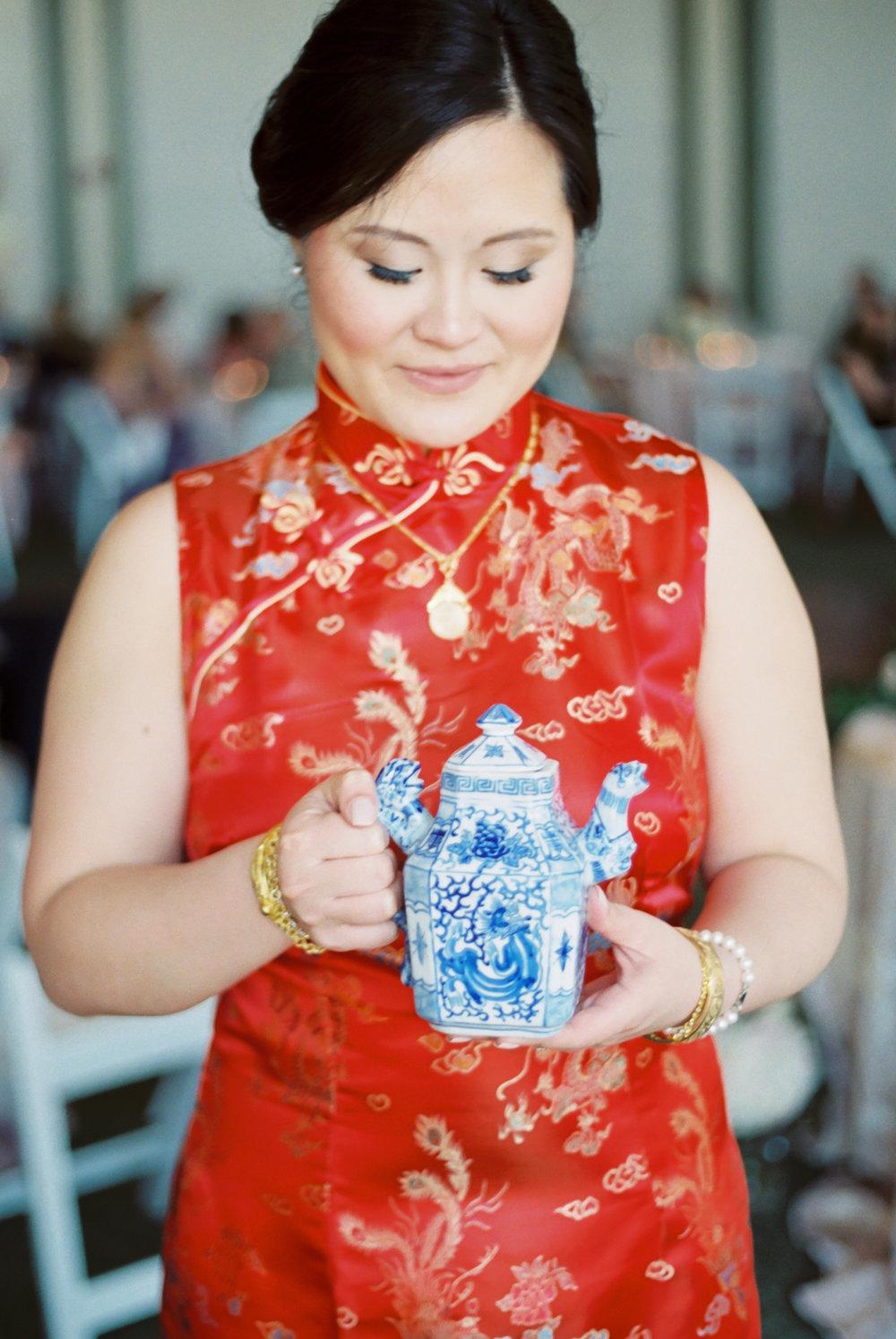 chinese tea ceremony bride on film