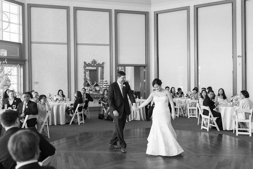 bride and groom first dance at charlotte wedding venue