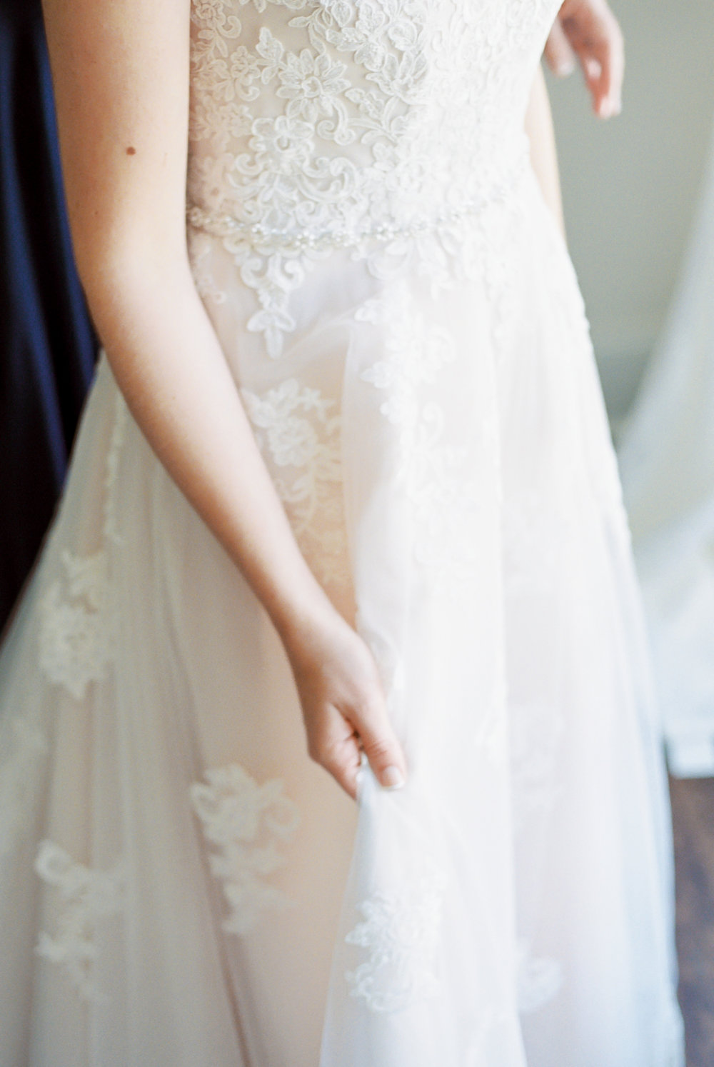 lace detail on dress