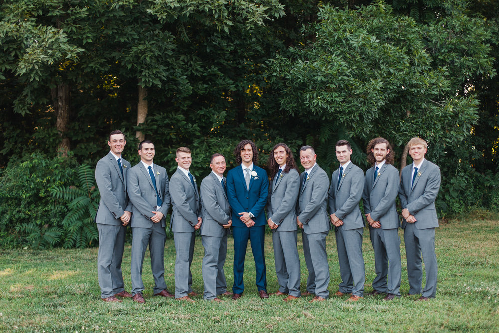 groom with groomsmen morning glory farm