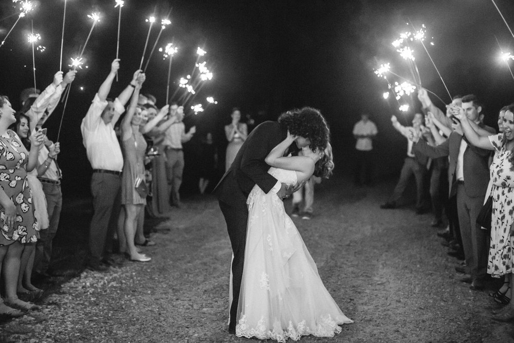 sparkler exit charlotte wedding venue