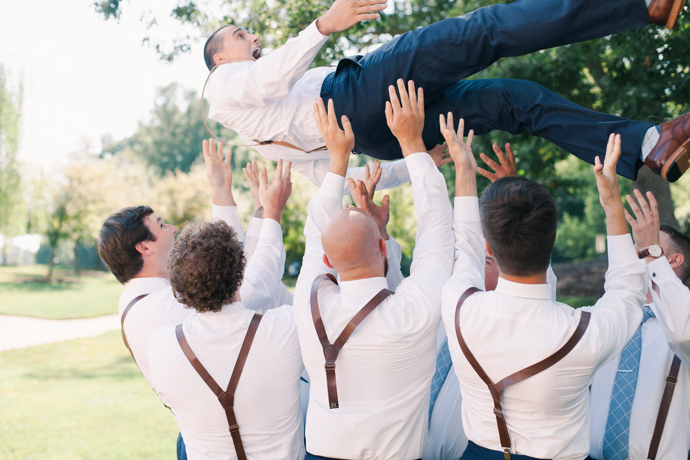 groomsmen having fun winmock