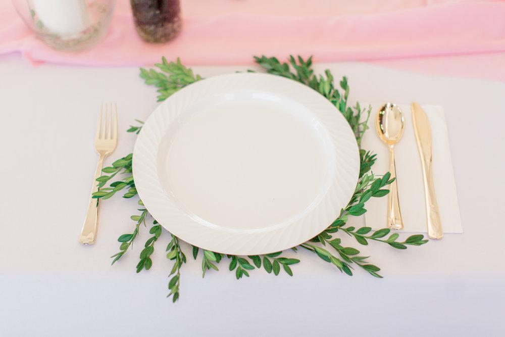 wedding greenery placemat