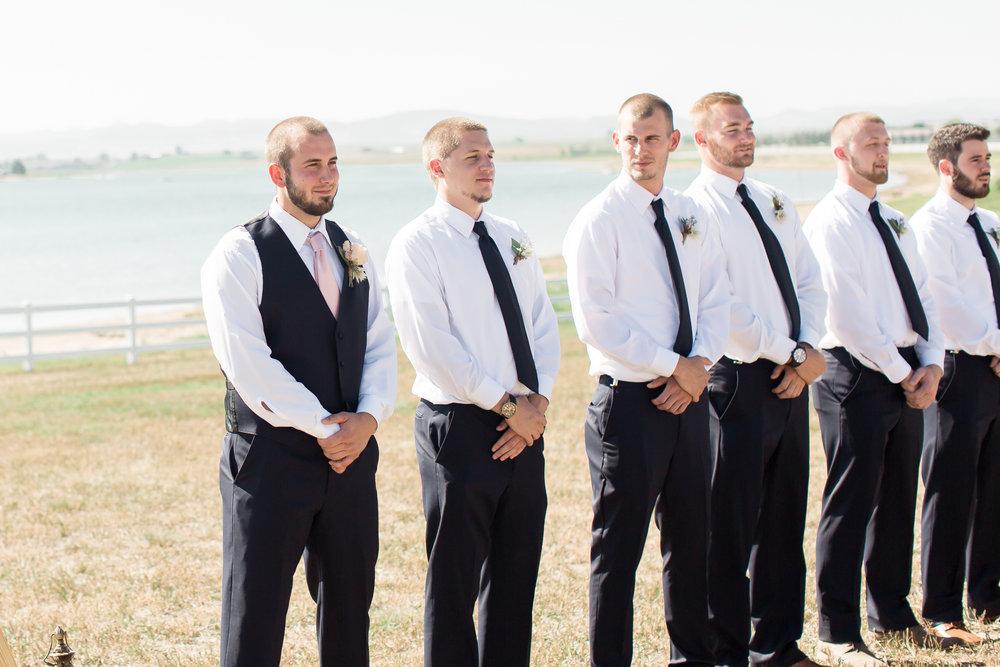 groom crying seeing bride