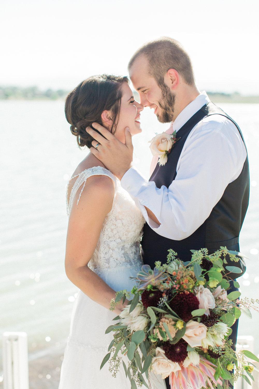 bride and groom colorado wedding