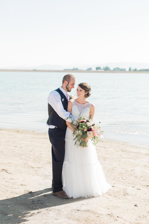 colorado lakeside wedding