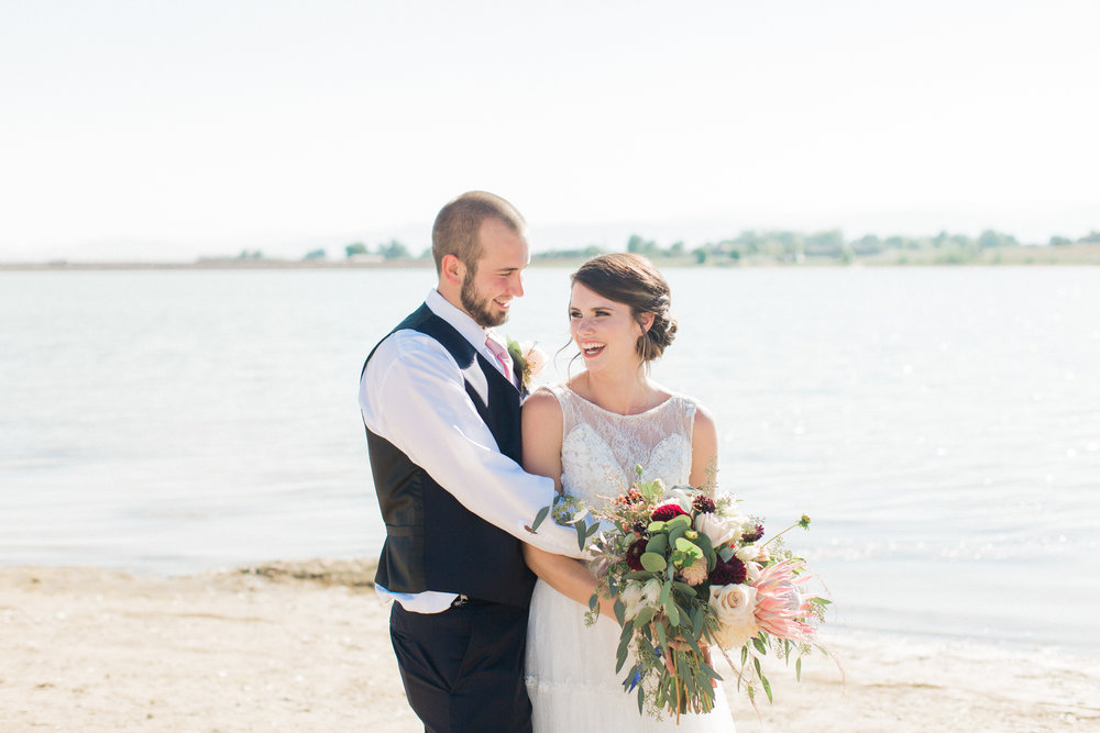 boho bride and groom colorado inspo