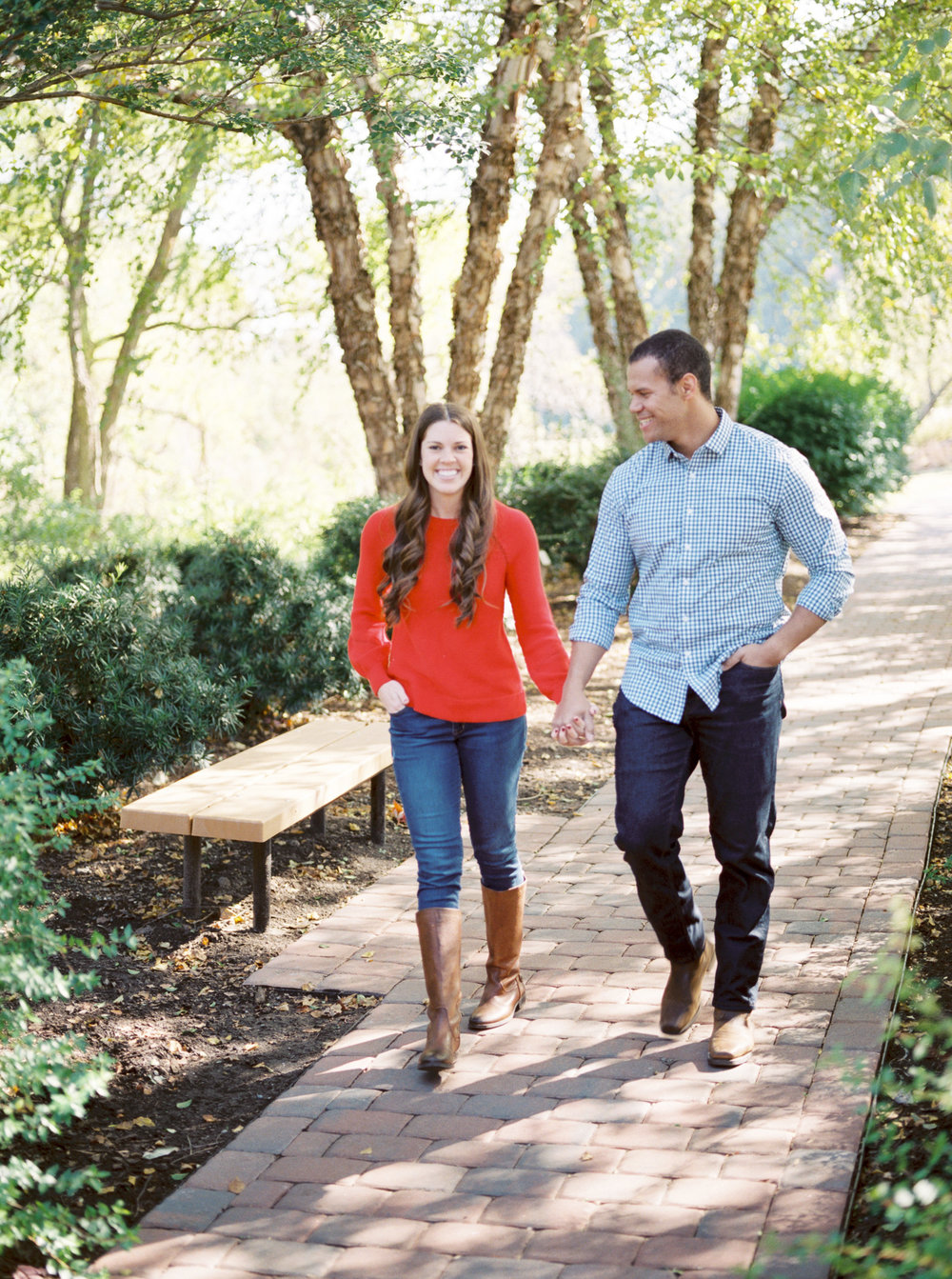 fall engagement session NC