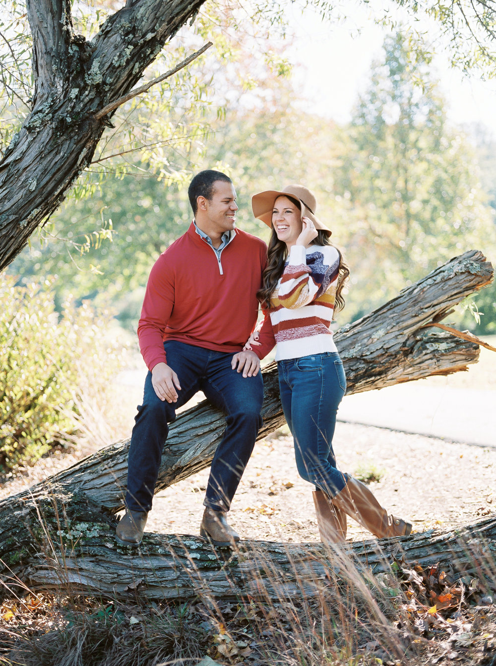 fall engagement session lake lure