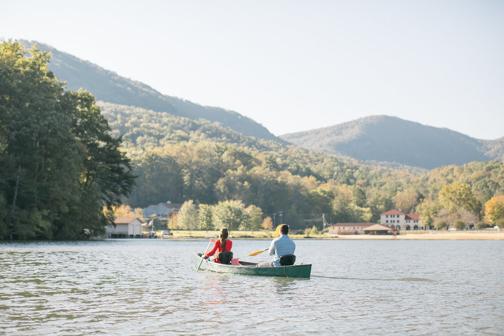 Lake Lure canoe