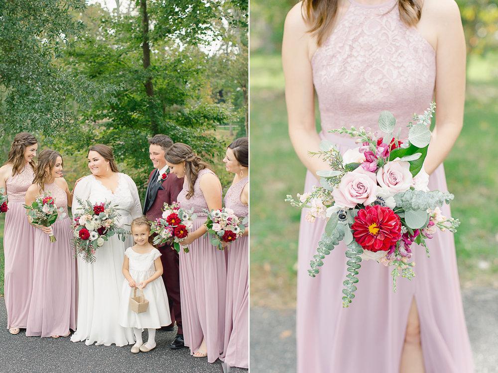 bridesmaids fall colors