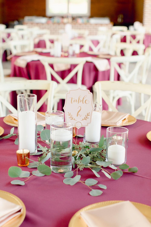 fall wedding decor nc