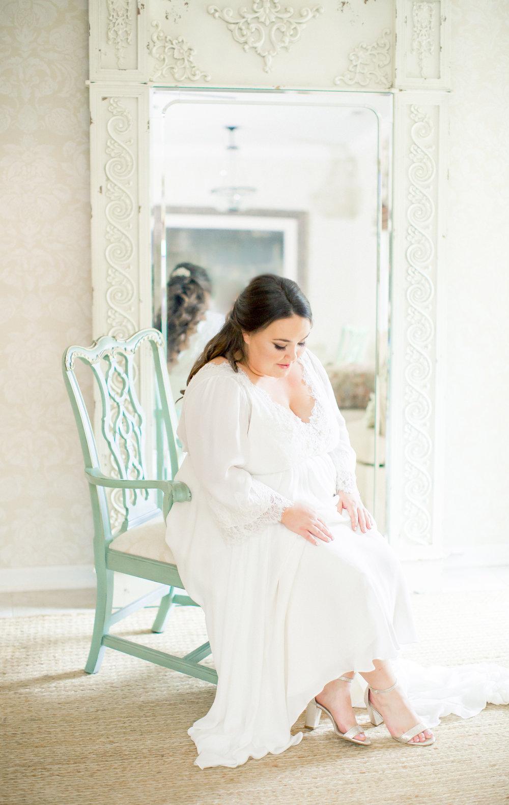 bride getting ready nc wedding venue