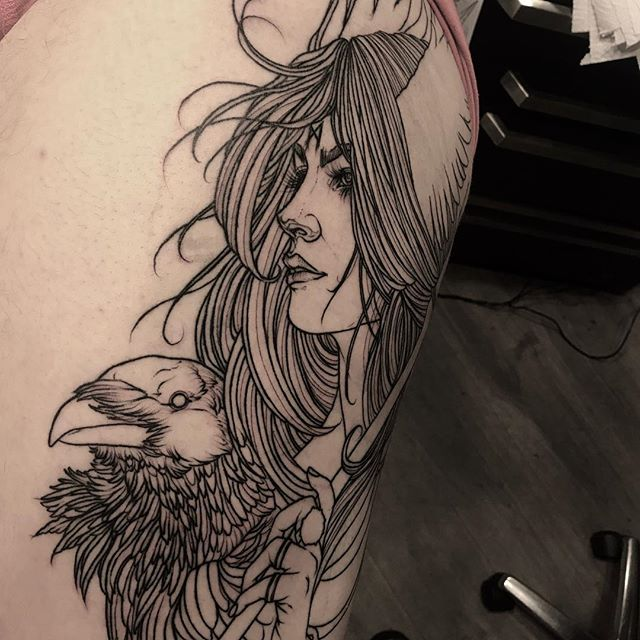 In progress, most of the lines healed. #norway #notodden #emperialtattoo #tattoo