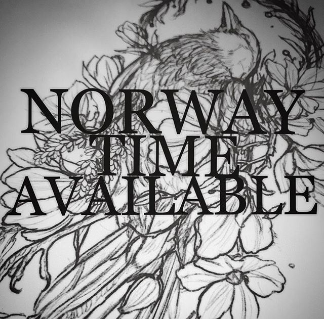 Norway 🇳🇴! I have time available coming up if anyone is interested in getting something done. Still working at Emperial Tattoo! Contact me through email or DM :)