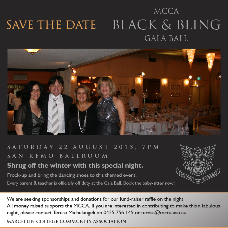 "2015 ""Black and Bling"" Gala Ball  Here is the flyer"