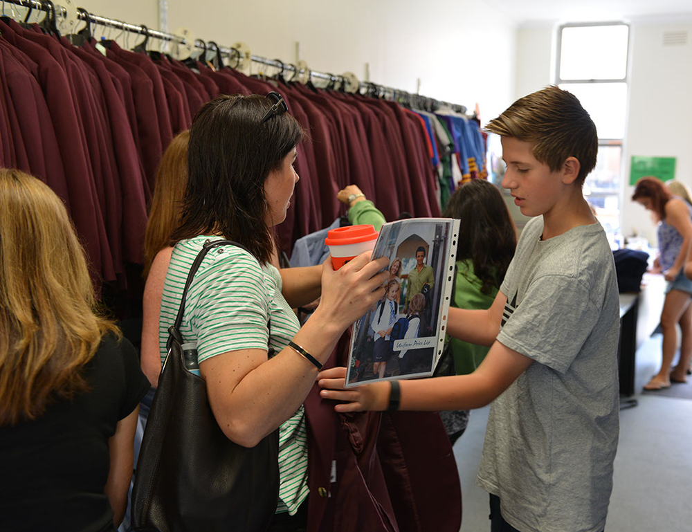 The Second hand uniform is an invaluable resource for the Marcellin Community