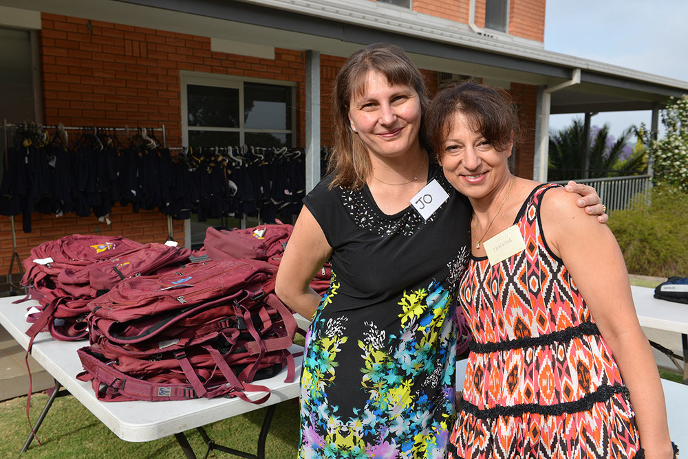 Volunteers Jo and Teresa on duty at the Second Hand uniform shop