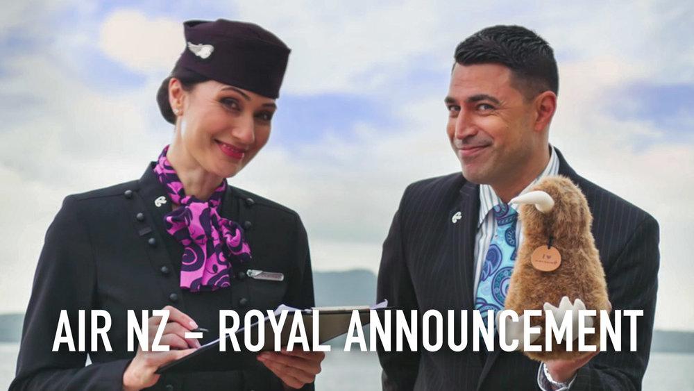 Air NZ Royal Announcement