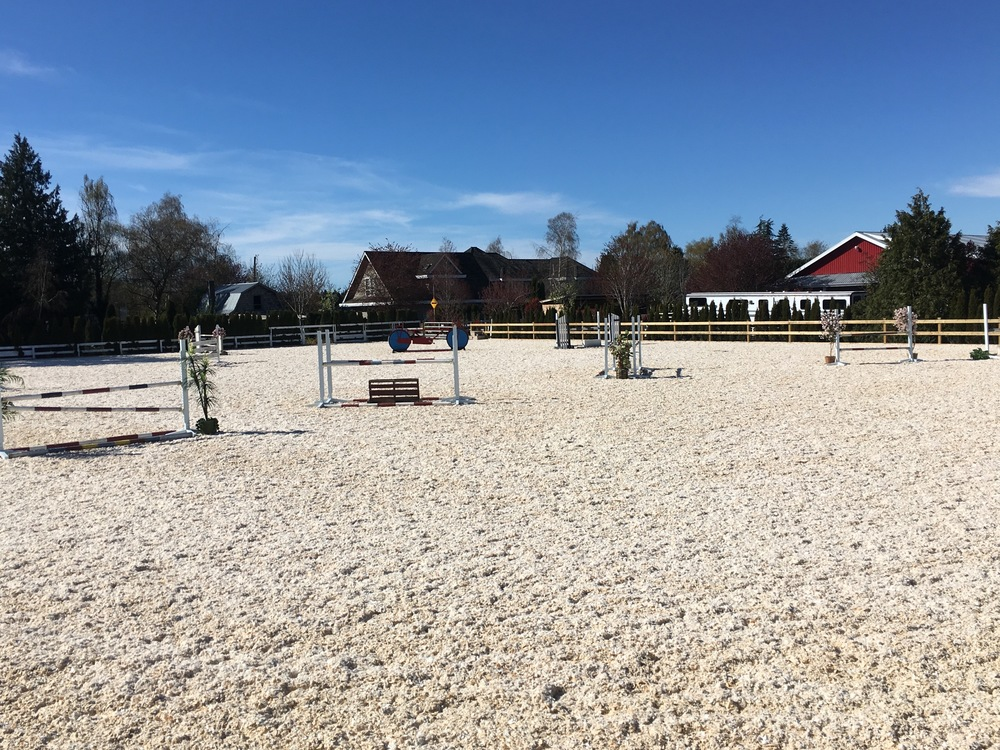The large outdoor arena with new GGT Silica Footing