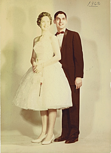 Carolaine with boyfriend, University of Michigan, 1962