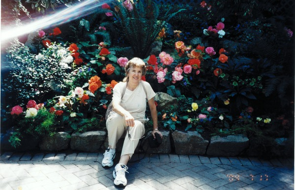 Carolaine loved any flower garden with an explosion of color.