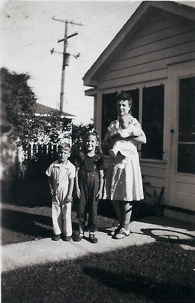 Paul, Carolaine, and me with Mom in Mt. Clemens