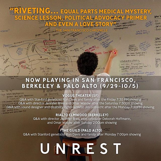 Just landed at SFO! Can't wait to see you tonight after the 7:30pm screening of @unrestfilm at the Vogue Theatre! #timeforunrest