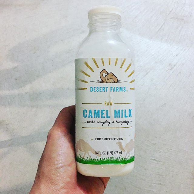 Just tried my first bottle of raw Camel's milk!! Like, why not? It's so much less weird than my ill-fated tryst with hookworms. Edit: check out the cheek on that tagline!