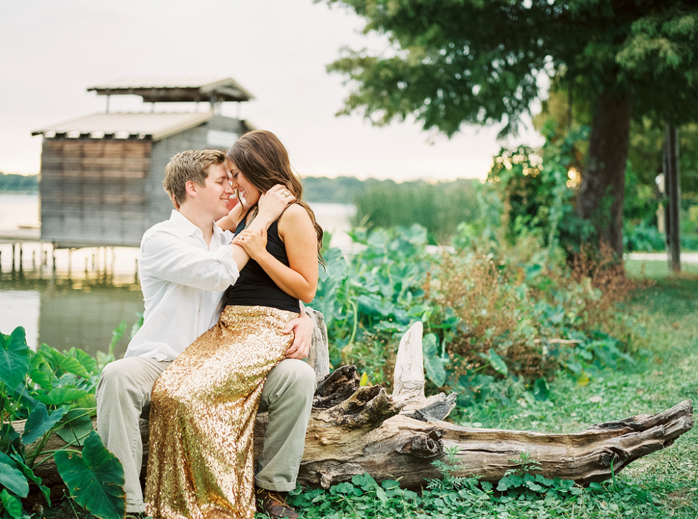 White rock lake engagement session