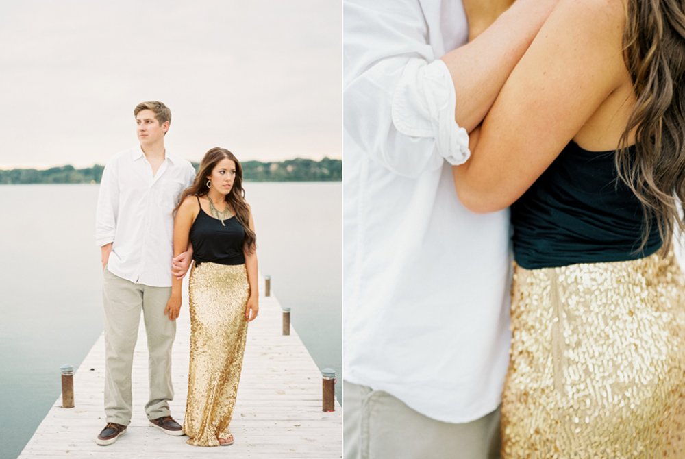 Gold Sequin maxi skirt