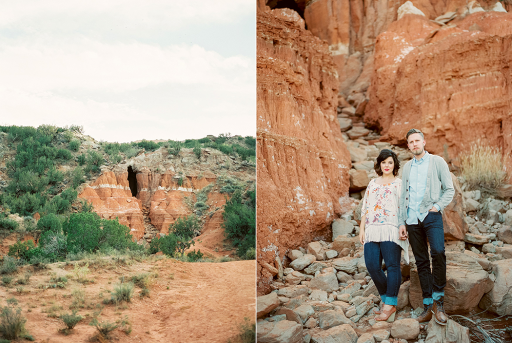 Palo Duro Canyon engagement photographer
