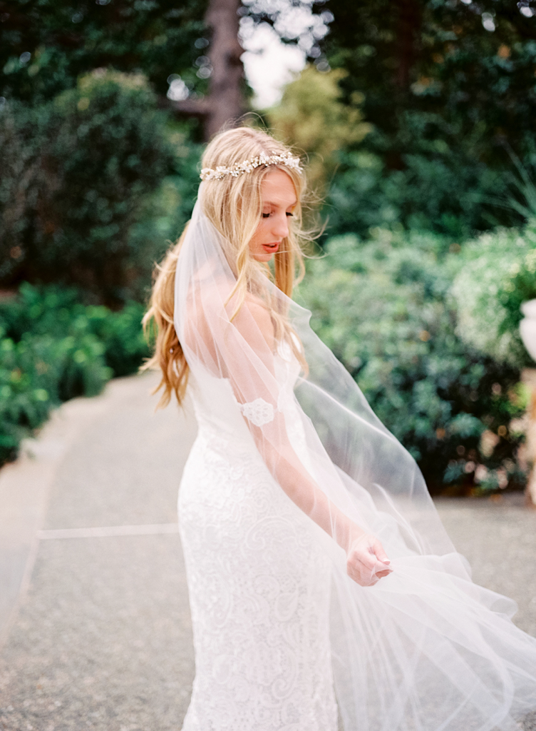 BHLDN veil and headband