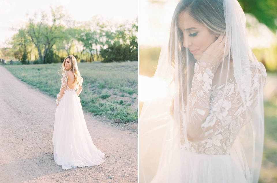 Becca Lea Photography, La Mesita Ranch Wedding, Hayley Paige Bridal, Sara Gabriel Veil, Floriography Flowers, Santa Fe Wedding Photographer, Santa Fe Wedding, Fine Art Destination wedding, Destination Wedding Photographer, Fine Art Film wedding photographer, Kendra Scott Earrings