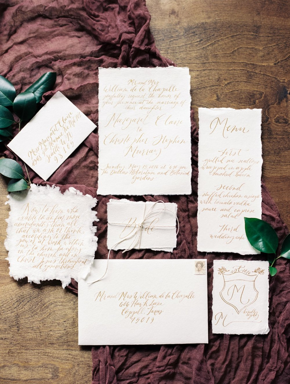 Fig and Flourish calligraphy