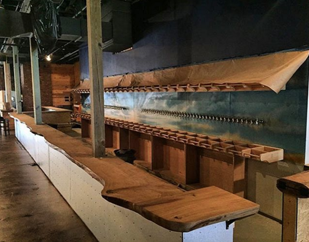 Flight bar under construction / Image courtesy  of Charlotte Agenda