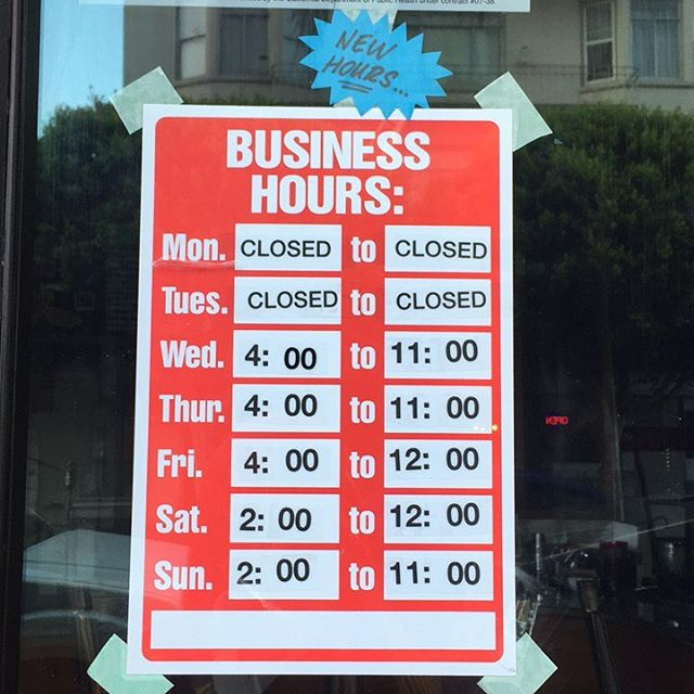 Remember we have new hours! Closed #monday & #tuesday, hope you grabbed some pints to hold you over. Who grabbed some Cinna-toast-brunch yesterday?!? #happymonday peeps!! #localowned #supportsmallbusiness #supportyourlocal #icecream shop! #shakedownsf #835geary!
