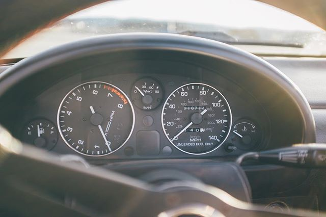 Stay tilted. . . . #sharplitemedia #nikromanoracing #mazda #miata #NA #mx5 #carstagram #cargram #carspotting #fujifilm #x100s #photoart #depthoffield #photographylovers #gauges #dashboard #carstuff