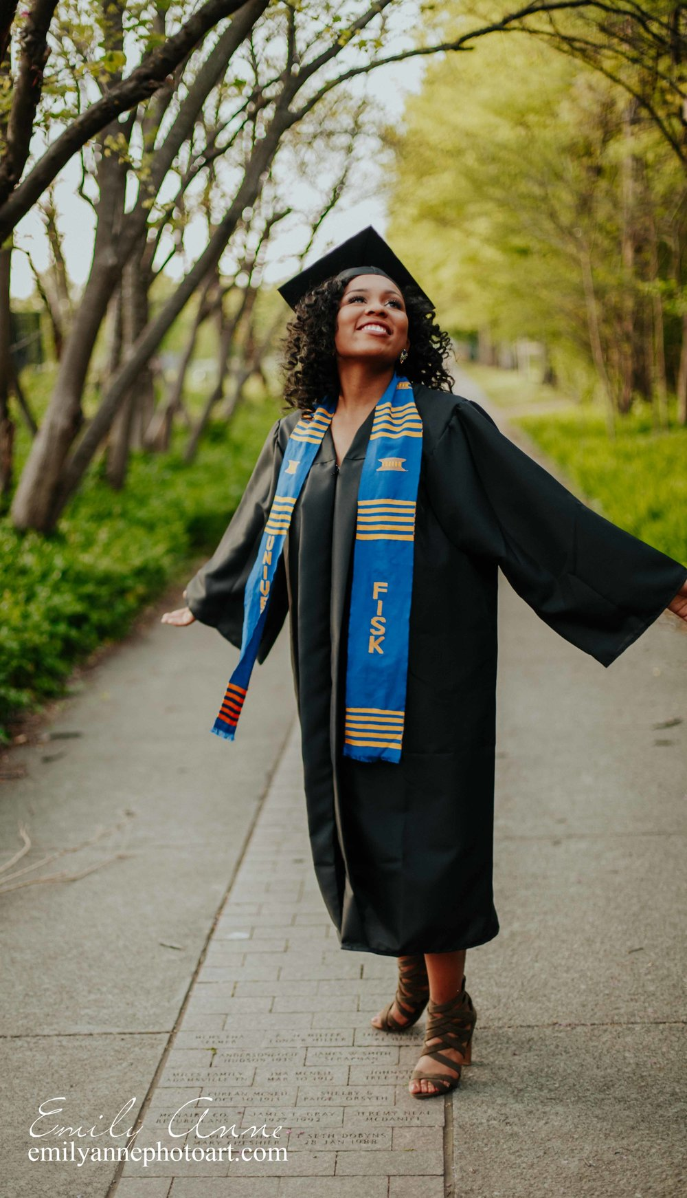 Top Schools in TN Fisk University Graduate Graduation Portraits Emily Anne Photography Nashville TN