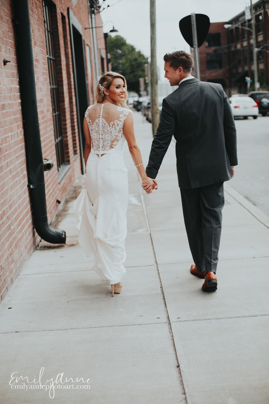 Adorable wedding photos on Clinton Street At Foundry Events in Nashville TN by Best Nashville Wedding Photographer Emily Anne Photo Art (photography)