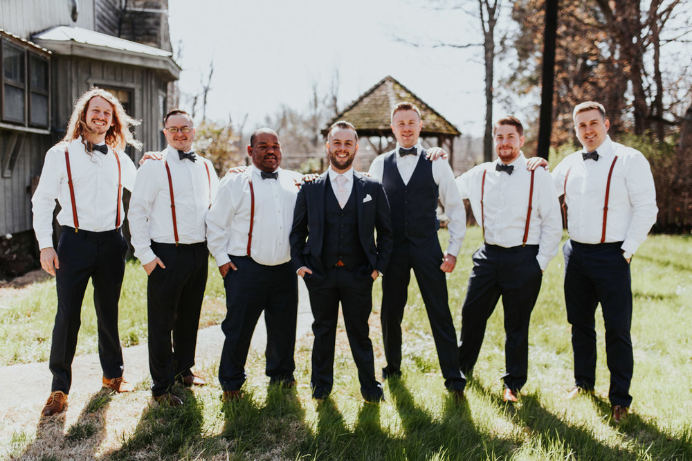 Great groomsmen wedding photography at Buchanan Log in Nashville TN