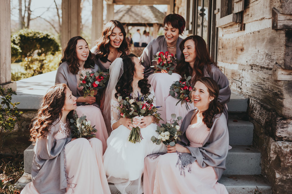 Spanish beautiful bride and her bridesmaids best wedding photographer in Nashville TN and Barcelona Spain