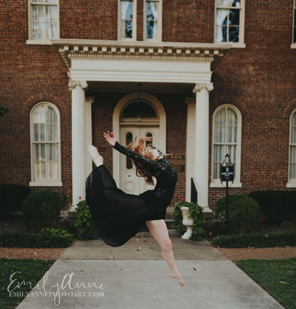 jump for joy best dance photography in downtown Franklin TN Emily Anne Photo Art