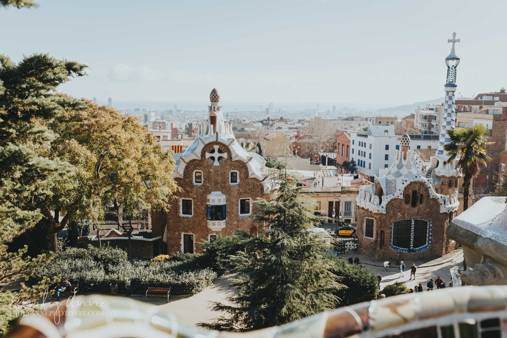 top #1 best parc guell shot by Barcelona and Nashville top wedding photographer Emily Anne photo art