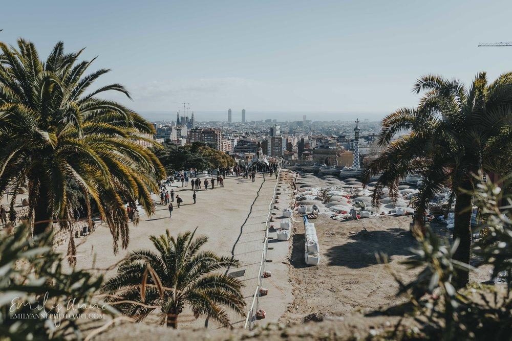 Muntanya Pelada Parc Guell Barcelona Fotografo Emily Anne