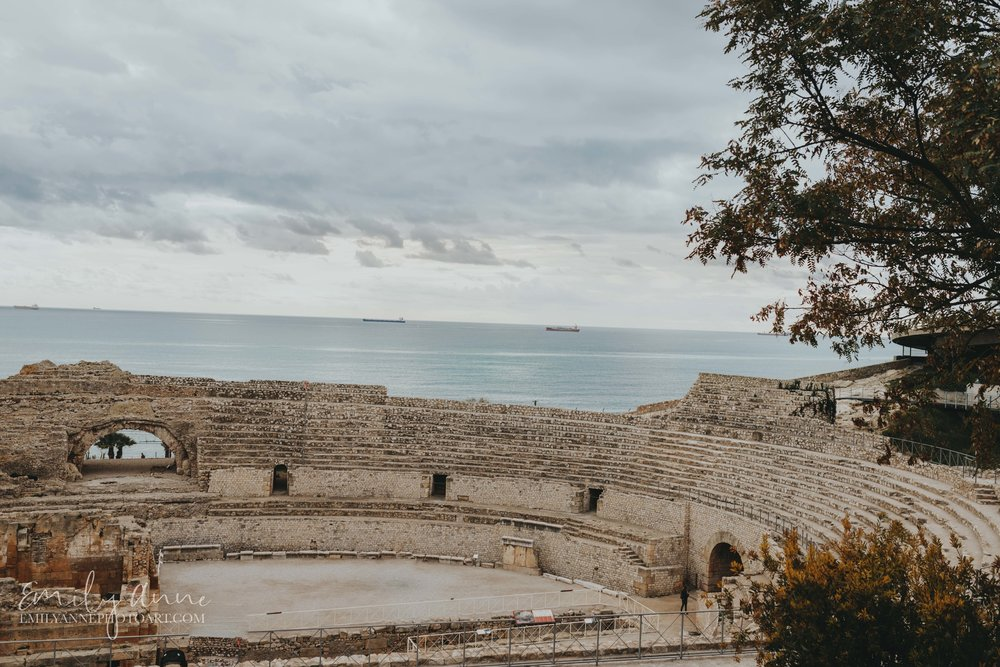 roman colosseum in España Tarragona gorgeous reflections over the ocean by Emily Anne Photo Art Spanish Photographer